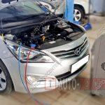 Заправка кондиционера Hyundai Solaris 1
