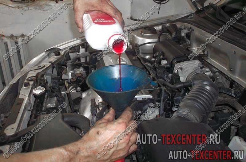Замена масла в АКПП Hyundai Accent