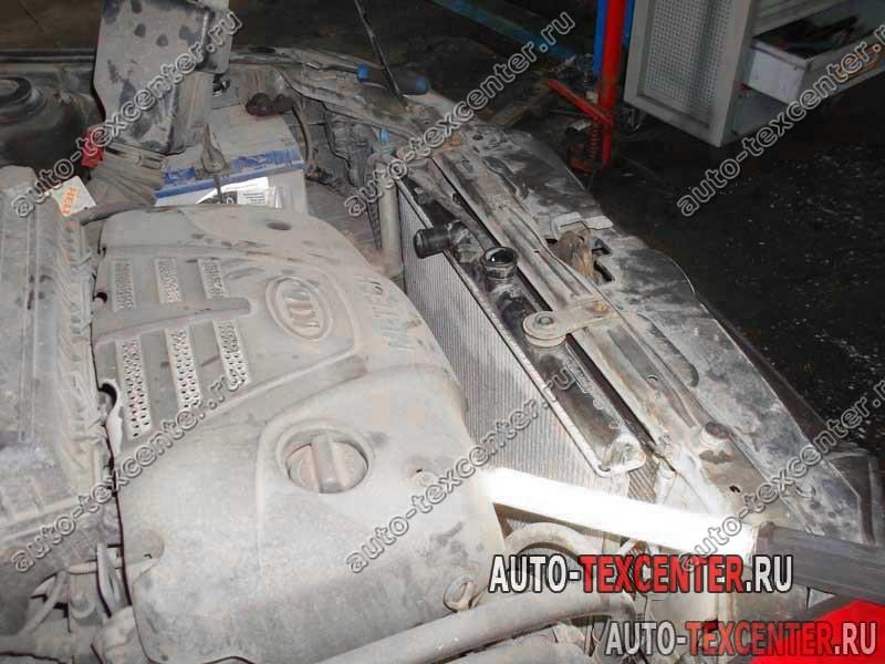 Замена вентилятора охлаждения Kia Rio
