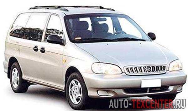 Kia Carnival (GQ) расход топлива (бензин) 2.5 L (165 л.с.) и (дизель) 2.9 L (126 л.с.)