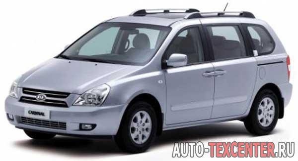Kia Carnival (VQ) расход топлива (бензин) 2.7 L (189 л.с.) и (дизель) 2.9 L (185 л.с.)