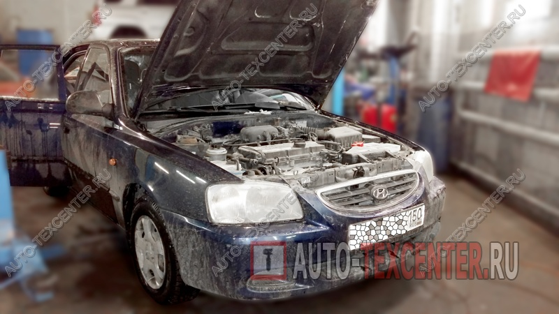 Замена амортизаторов Hyundai Accent (1)