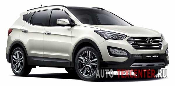 Расположение вин номера Hyundai Santa Fe 3 (DM)
