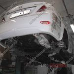 Антикор днища и нанесение жидких подкрылков на Hyundai Solaris