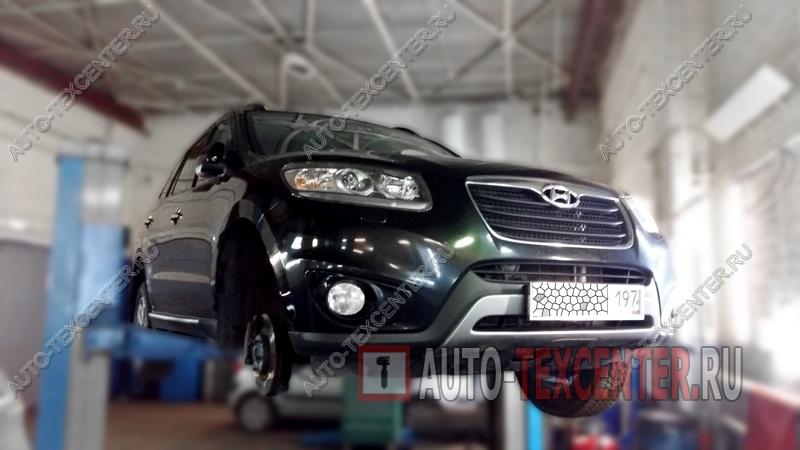 Замена шаровой опоры Hyundai Santa Fe (1)