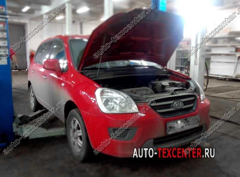 Замена масла в двигателе Kia Carens