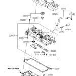 Устройство — прокладка клапанной крышки Киа Рио JB 1,4