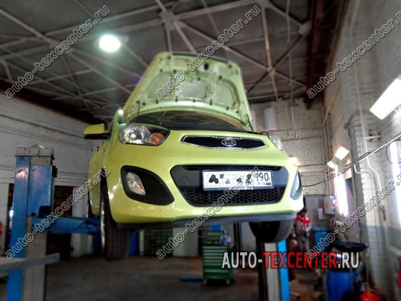 Замена масла в двигателе Kia Picanto