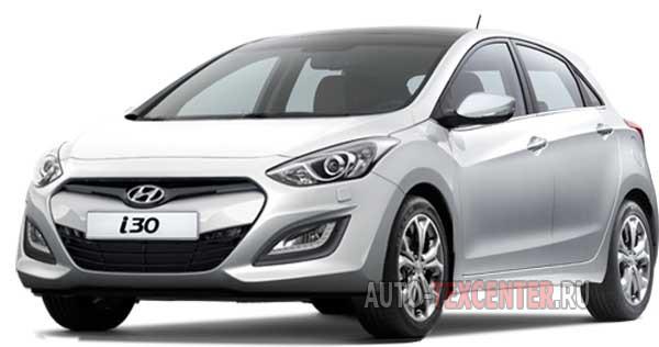 Расположение вин номера Hyundai i30 2 (GD)