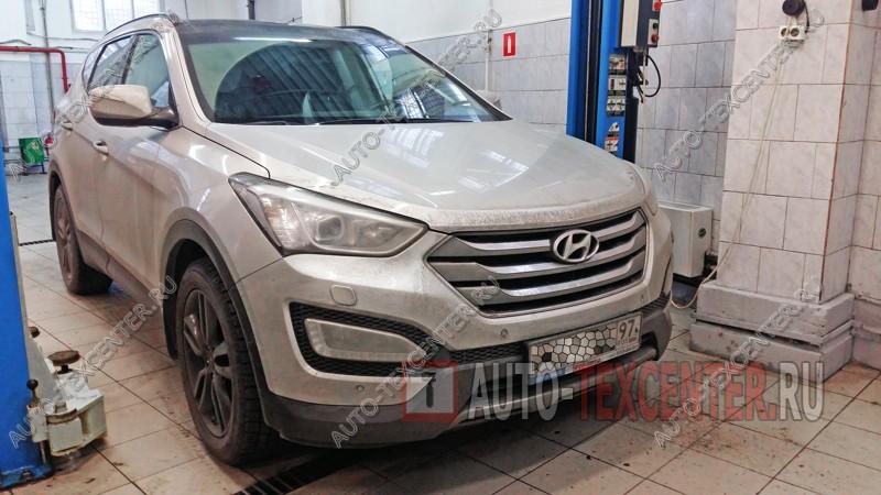 Замена стоек стабилизатора Hyundai Santa Fe (1)
