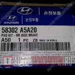 58302-A5A20 — колодки тормозные задние Киа Сид JD