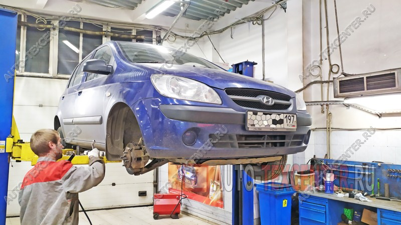 Замена сцепления Hyundai Getz
