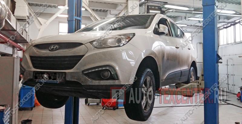 Замена подшипника ступицы Hyundai IX35 (1)