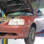 Замена тормозных колодок и дисков Hyundai Accent