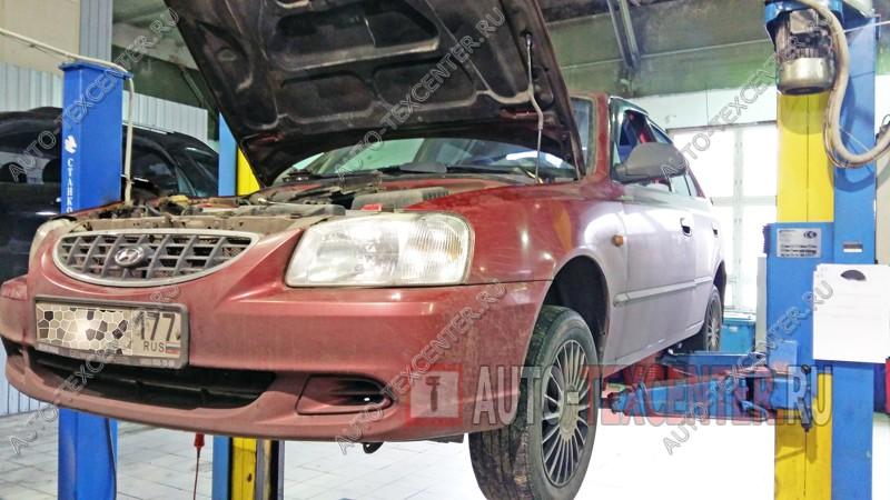 Замена тормозных колодок Hyundai Accent