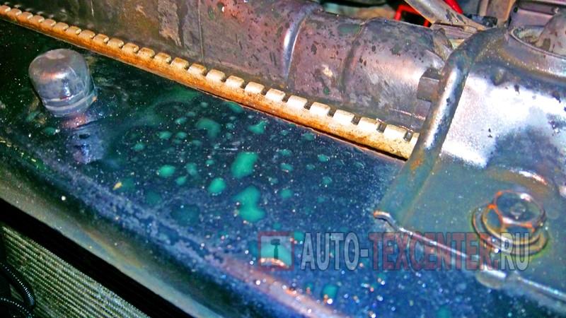 замена радиатора охлаждения Киа Маджентис 1
