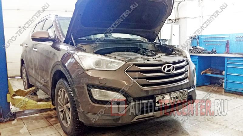 Замена тормозных колодок Hyundai Santa Fe