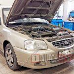 Замена подушки двигателя Hyundai Accent
