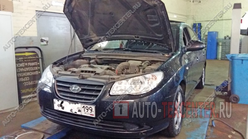 замена свечей зажигания Hyundai Elantra