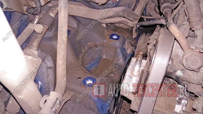 замена подушки двигателя Хендай Санта Фе 2