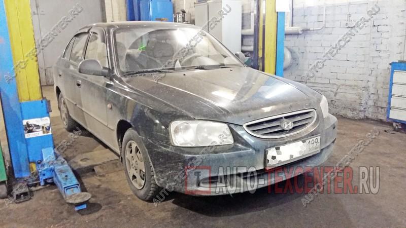 замена рулевых наконечников Hyundai Accent