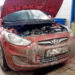 Замена стартера Hyundai Solaris