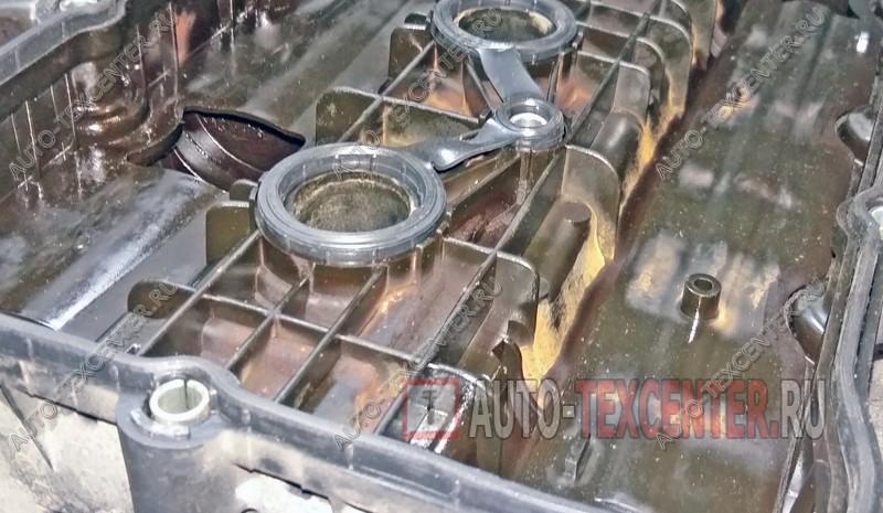 замена прокладки клапанной крышки Хендай Санта Фе