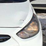 Покраска капота и выпрямление порога Hyundai Solaris (