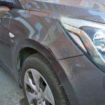 Ремонт крыла Hyundai Solaris 2014