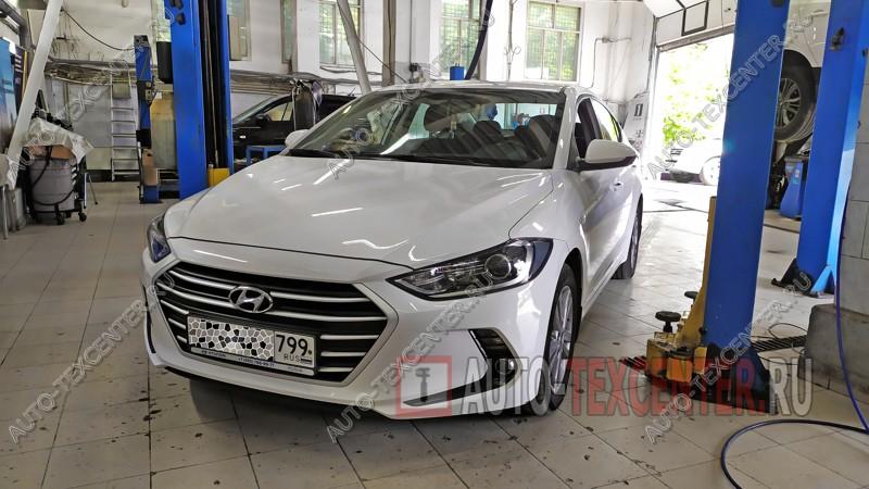 Замена тормозных колодок Hyundai Elantra 6