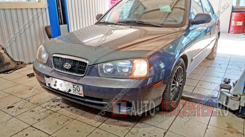 Замена тормозных колодок Hyundai Elantra