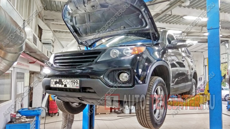 Замена масла в МКПП Kia Sorento