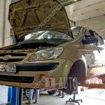 Замена рычагов Hyundai Getz