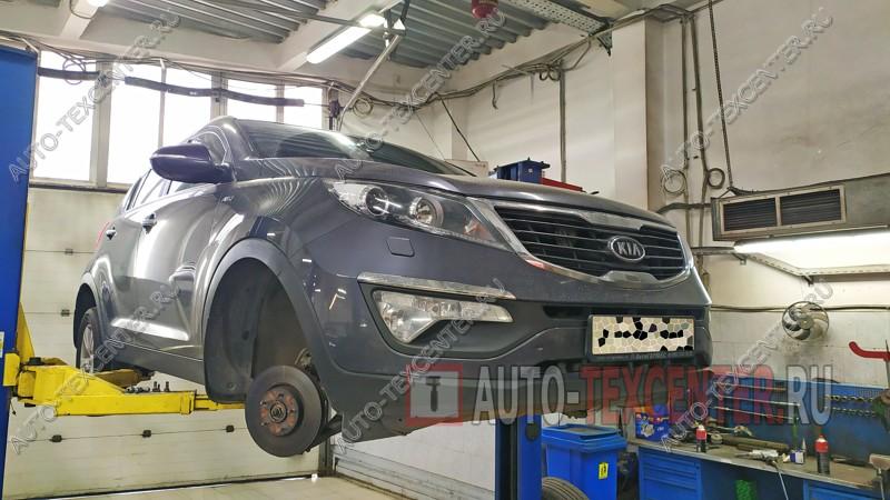 Замена подвесного подшипника Kia Sportage 3