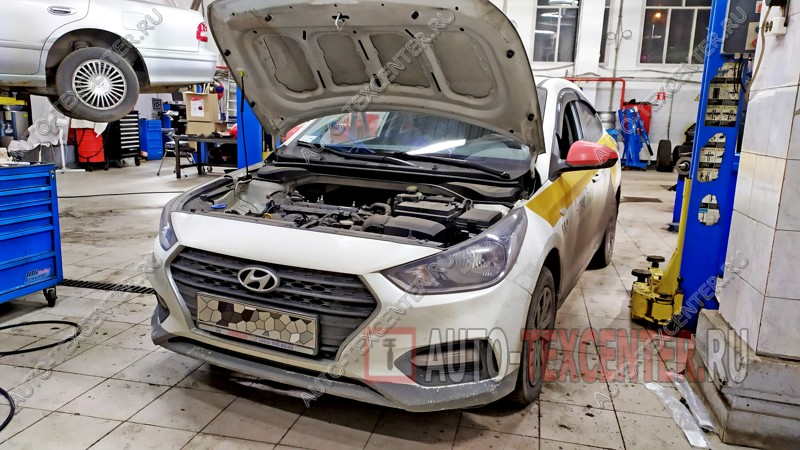 Замена датчика коленвала Hyundai Solaris