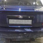 Покраска бампера Hyundai Accent  2007