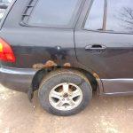 восстановление задних арок Hyundai Santa Fe 2003